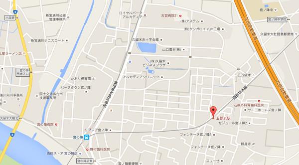 五郎丸駅広域地図