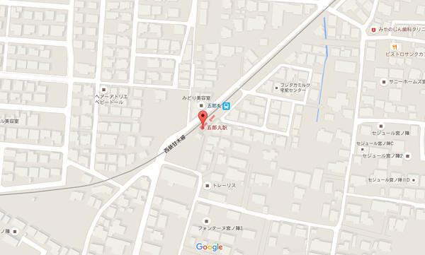 五郎丸駅狭域地図